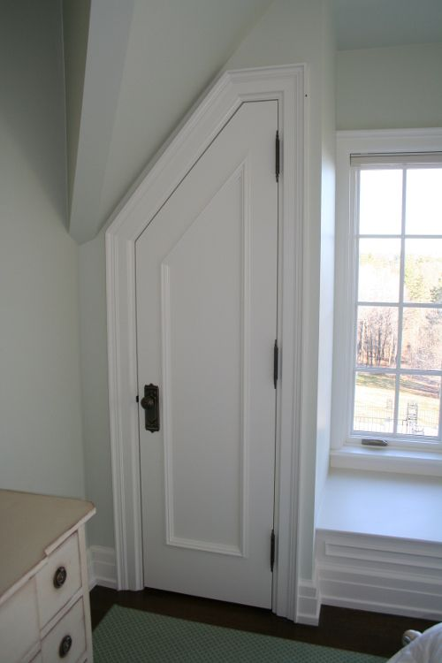 Custom Interior Door Closet Angled Buffalo Ny Quaker Millwork