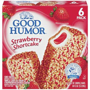 Good Humor Ice Cream Frozen Desserts Strawberry Shortcake Bar 6 Ct Com