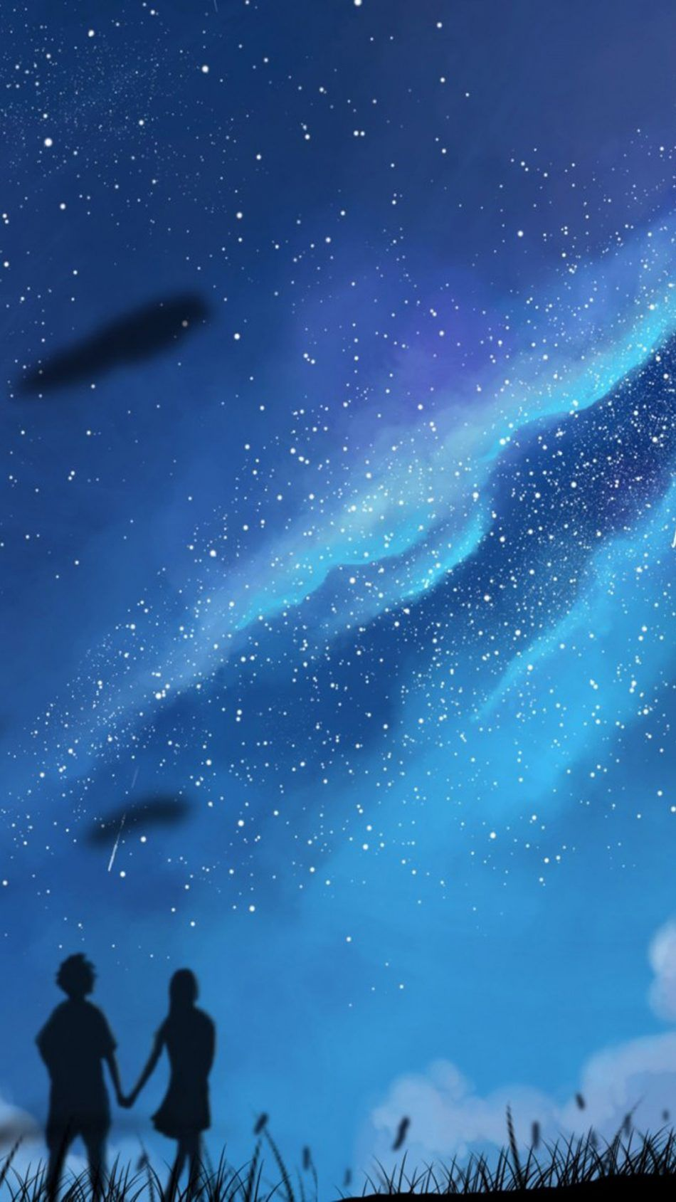 couple starry sky night artwork couple wallpapers pinterest