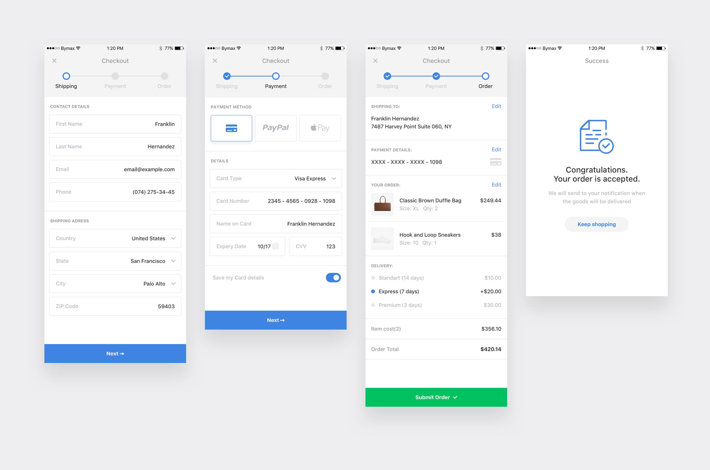 Checkout Form By Artyom Khamitov Web App Design Mobile App Design App Design Inspiration