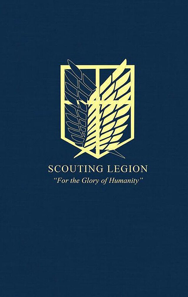 Scouting Legion Wallpaper Logo And Phrase Attack On Titan Attack On Titan Shingeki No Kyojin