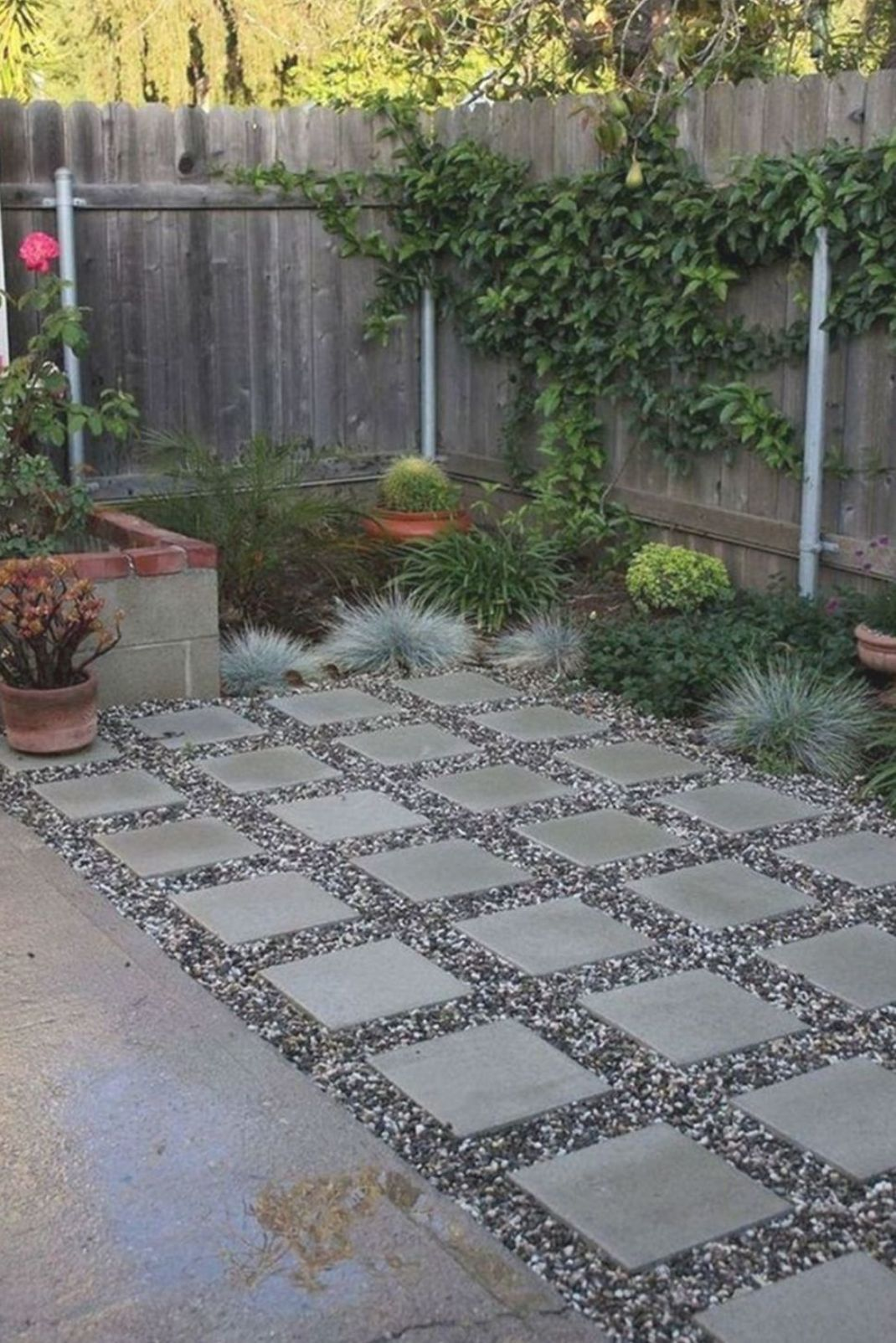 40 Stunning Home Backyard Landscaping With Paving Ideas Garden Paving Paving Ideas Driveway Ideas Cheap