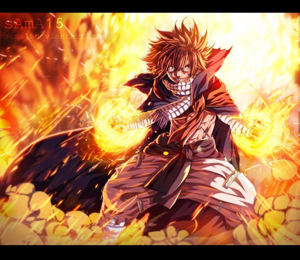Natsu Dragneel In Battle Mode Anime Fairy Tail Desenho De Anime