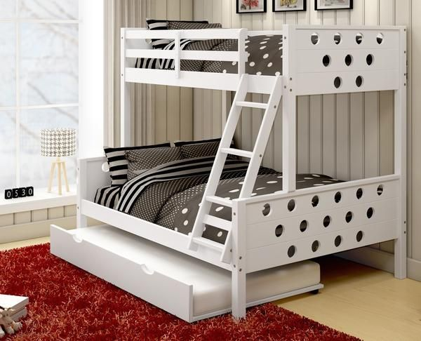Shop Trundle Bunk Beds In Twin Full And Save Free Shipping Sale Now