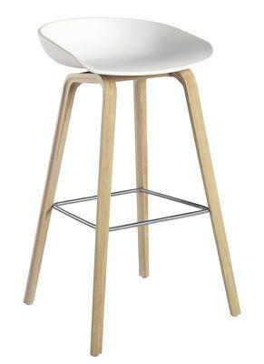 tabouret de bar about a stool aas 32 h 75 cm plastique pieds bois hay bar stool. Black Bedroom Furniture Sets. Home Design Ideas