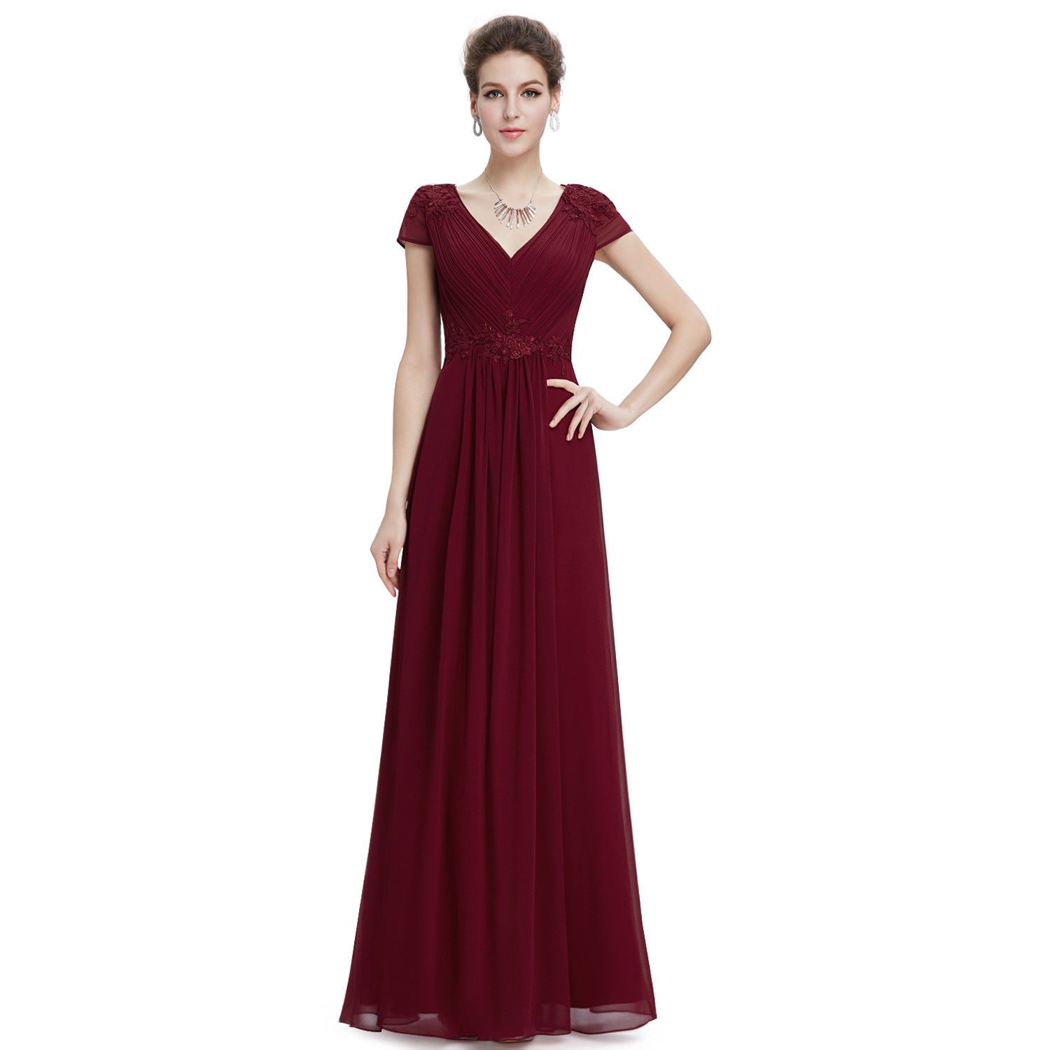 Awesome great everpretty women sexy evening dress v neck formal