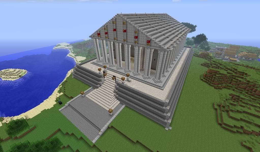 Minecraft Greek Statues Minecraft Greek Statue Greek Like Temple