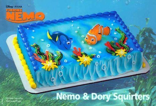 Finding Nemo Squirters Nemo  Dory Cake Toppers By Decopac Http - Finding nemo birthday cake