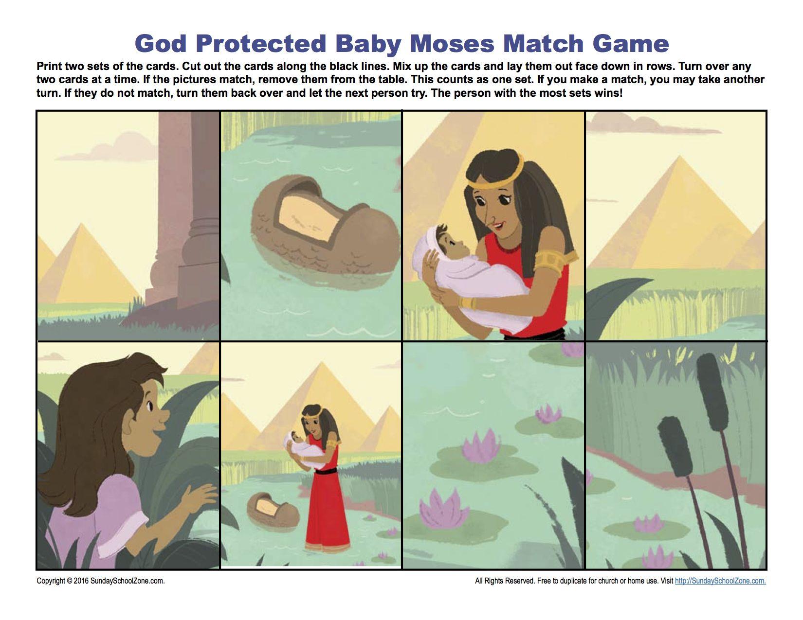 Baby Moses Sunday School Activity