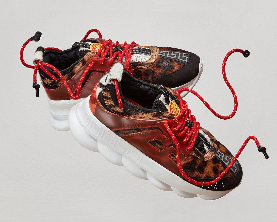 Versace chain, Versace sneakers men