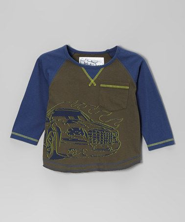 Loving this Moss Muscle Car Long-Sleeve Tee - Infant, Toddler & Boys on #zulily! #zulilyfinds