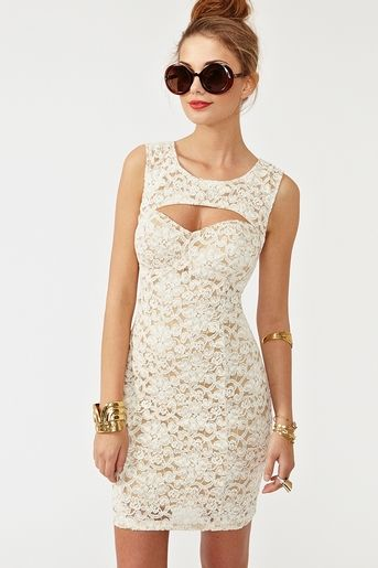 Cutout Crochet Dress