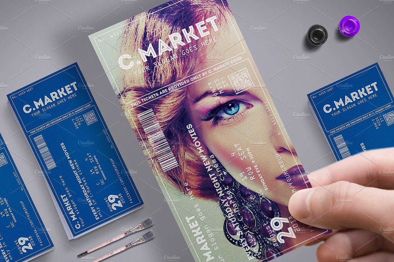 Elegant Creative Event Ticket Event Ticket Template Creative Event Ticket Design
