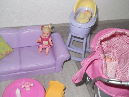 barbie happy family schwangere midge nikki moebel kelly. Black Bedroom Furniture Sets. Home Design Ideas