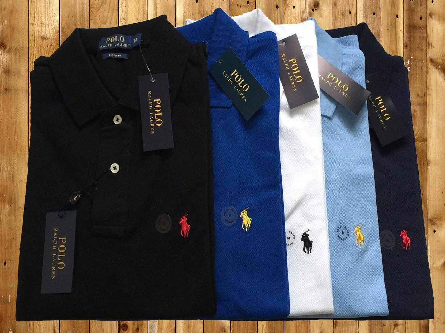 51262ba352d1e4 Ralph Lauren Custom Fit polo for men