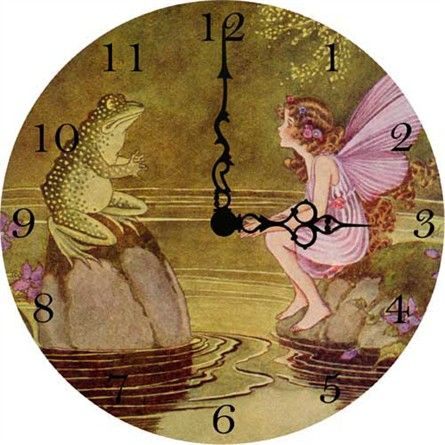 @rosenberryrooms is offering $20 OFF your purchase! Share the news and save!  Fairy and Frog Wall Clock #rosenberryrooms