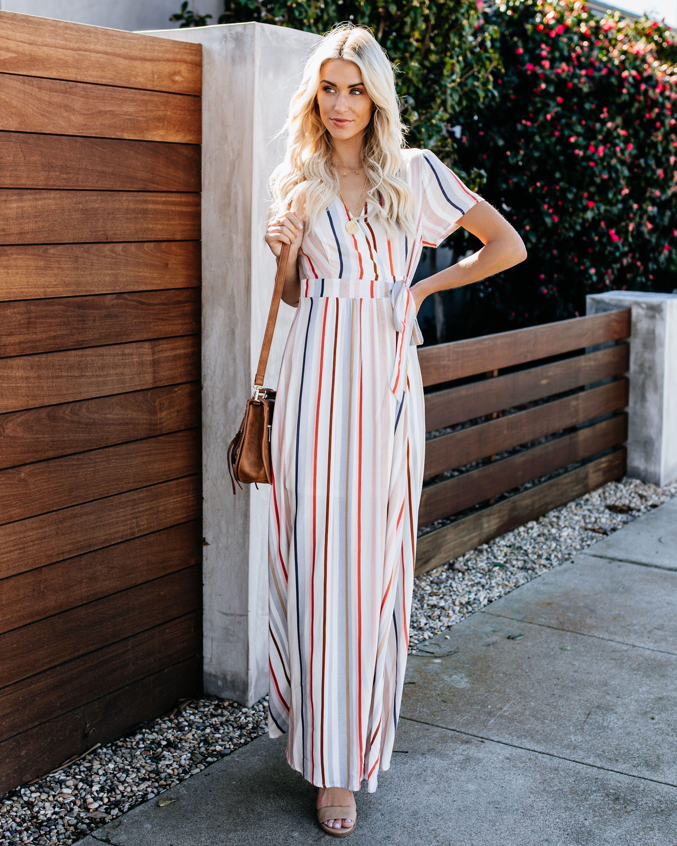 Arizona Striped Wrap Maxi Dress Maxi Dress Maxi Wrap Dress Dresses [ 3600 x 2880 Pixel ]