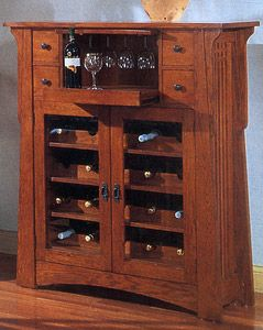 Our Mission Oak Wine Cabinet Exemplifies Clic Styling Through Intricate Rectangular Designs Rich Grains And Color Hammered Iron Accents