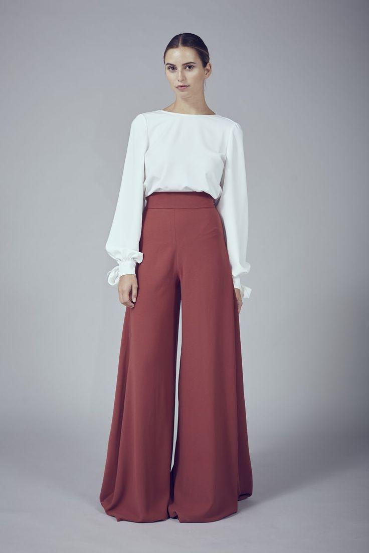 Opciones para Rockear el Look Pantalon Palazzo - http://www ...
