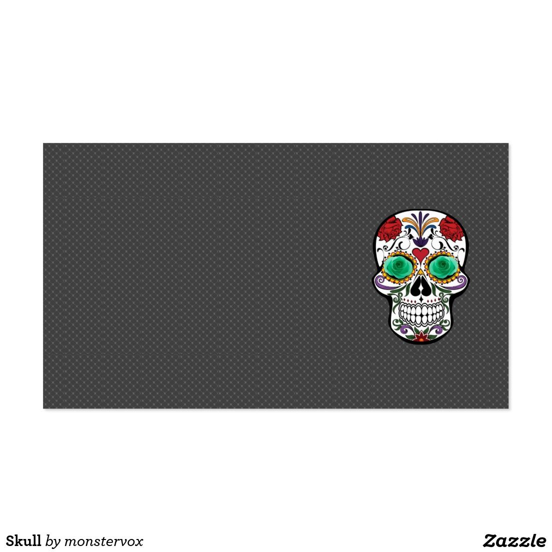 Skull business card skull holiday halloween flower rose skull business card skull holiday halloween flower rose fashion magicingreecefo Choice Image