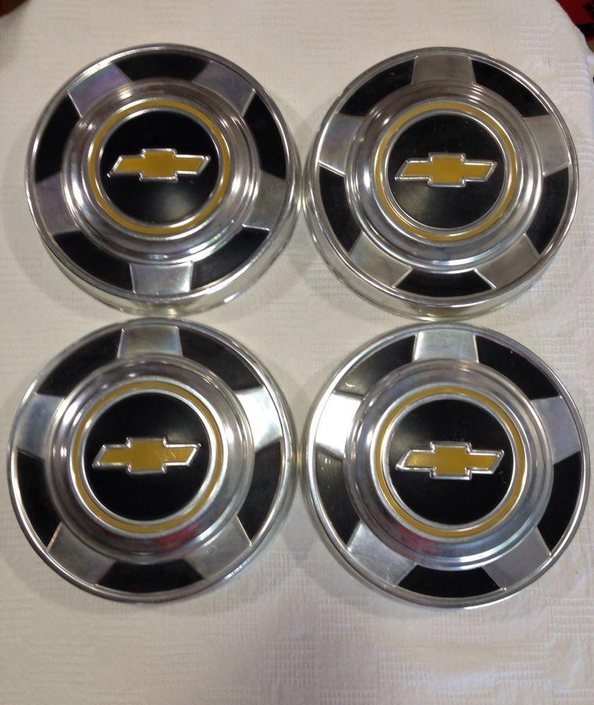 Vintage Chevy Chevrolet Hub Caps 10-1/2