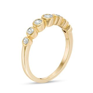 07067642f03c5 1/4 CT. T.w. Diamond Bubble Stackable Band in 10K Gold | Rings ...