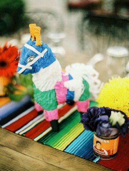 Mexican inspired centerpieces #destinationwedding #eventdesignbymariannaidirin #mexicantradition #pinata #decor #fun www.mariannaidirin.com