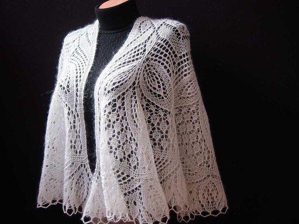 вязание платки шали
