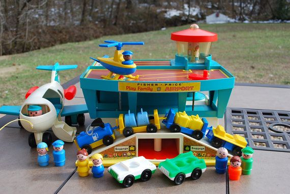 Vintage+Fisher+Price+Little+People+Airport+by+AGlimpseFromthePast,+$159.95