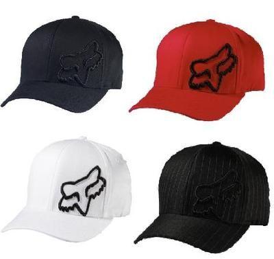 Fox Racing ments Flex 45 Flexfit Hat Cap Brand New Black Red White 58379  Ecklund Motorsports ac7142ae209