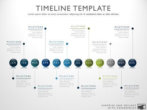 Fifteen Phase Creative Timeline Slide Timeline, Project management