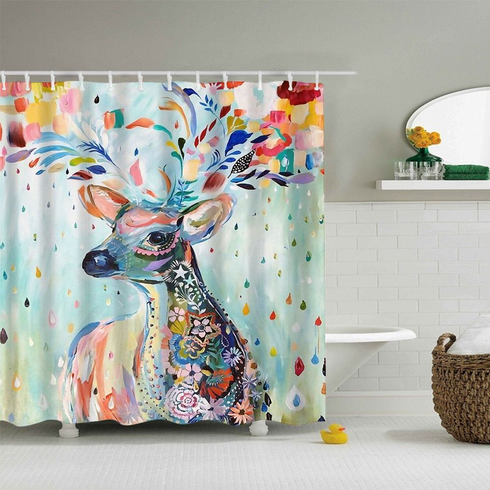 Waterproof Shower Curtain Olyester High Quality Washable