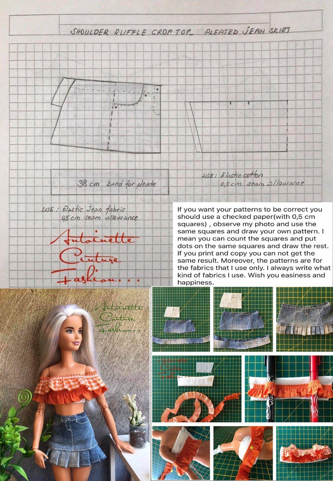 Fashion Dolls Couture - Unlimited: Barbie Dress Patterns #dolldresspatterns