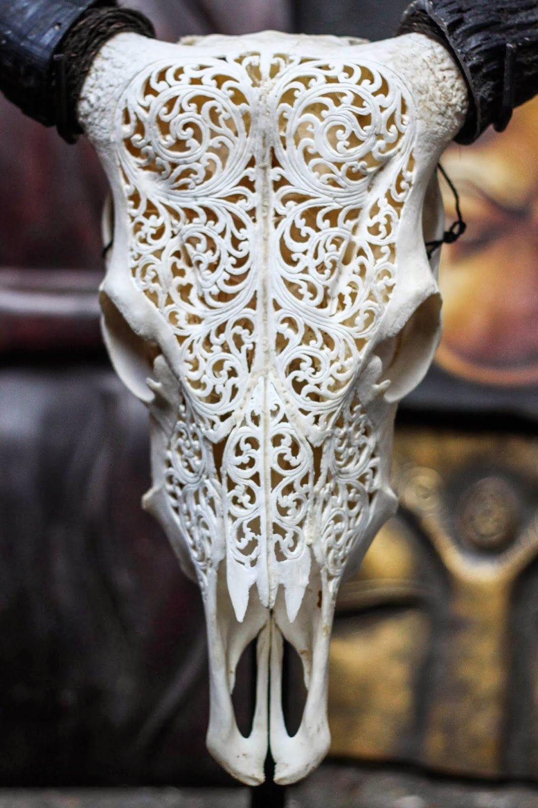 Carved Skulls Cabeza Decorada Calaveras Arte Del Cráneo Y