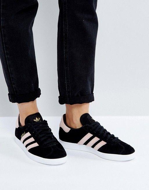 sports shoes ca33e 4fd17 adidas Originals Black Gazelle Sneakers With Velvet Stripes - velvet adidas  originals!! yes please