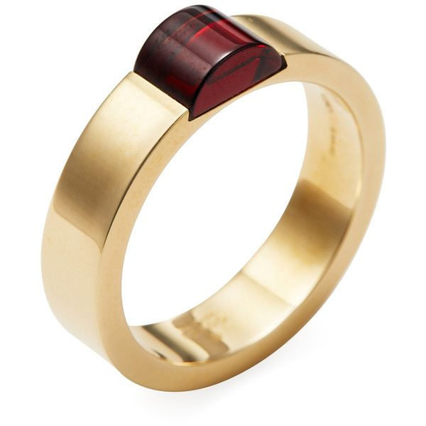 a080dfa86 Gucci Women's Vintage Gucci 18K Yellow Gold & Red Stone Band Ring -.