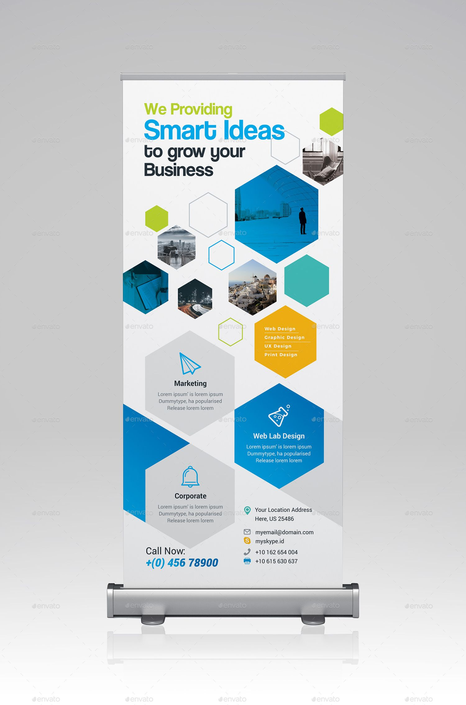 Roll Up Banner Standee Design Graphic Design Flyer Logo Infographic