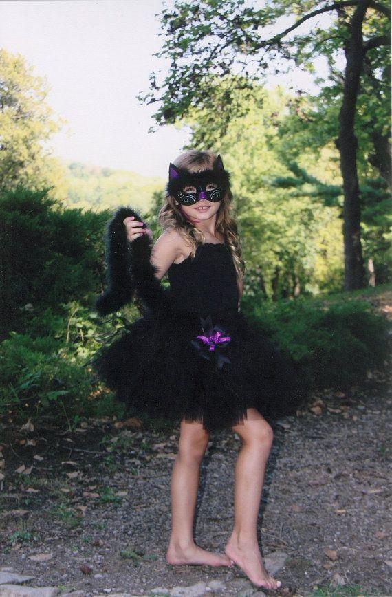 Cat Tutu Halloween Costume: Preemie - big girl sizes, Black Halloween Kitty Cat Tutu on Etsy, $30.00