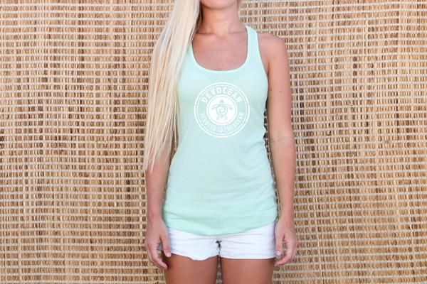 Sea Foam Green Tank - Devocean Jewelry