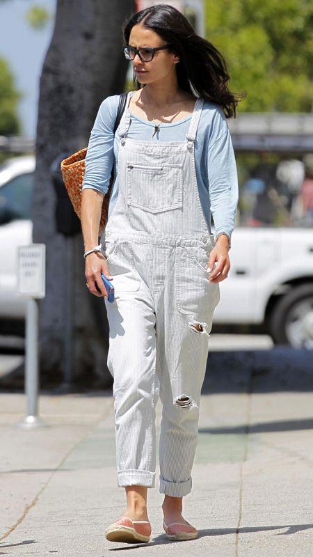 Trend Alert: Celebrities in Overalls - Jordana Brewster from #InStyle