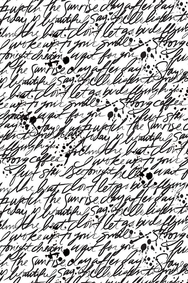 Colorful Fabrics Digitally Printed By Spoonflower Writing Scribbles Black And White Wallpaper Text Design Black And White