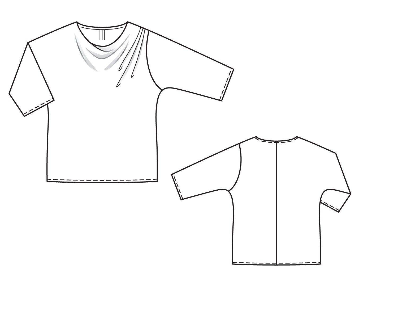 0eeafc83556 Блузка - выкройка № 137 А из журнала 8 2014 Burda – выкройки блузок на  Burdastyle.ru - BurdaStyle.ru
