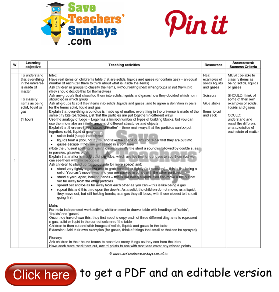 Workbooks solid liquid and gas worksheets : Solid, liquid or gas lesson plan. Go to http://www ...