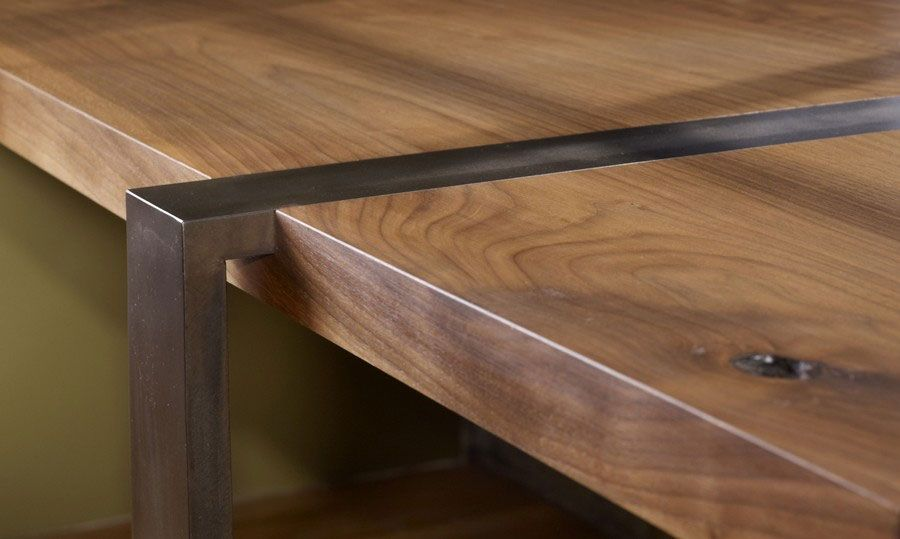 Wood And Metal Desk   About Alejandro U0026 Robert Luna