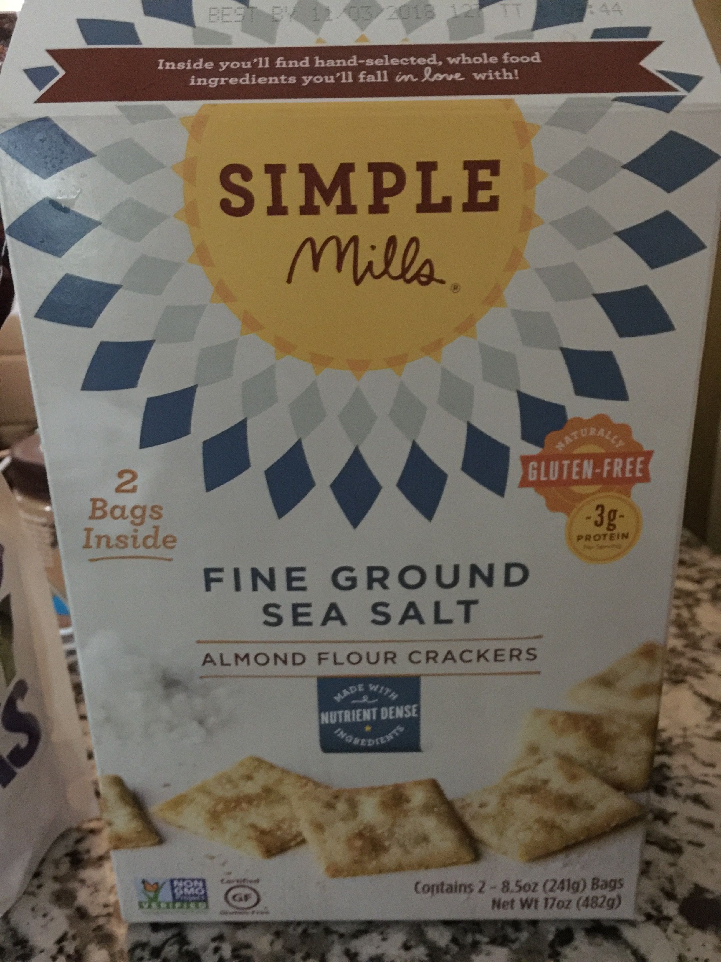 Great tasting crackers made with almond flour! Found at