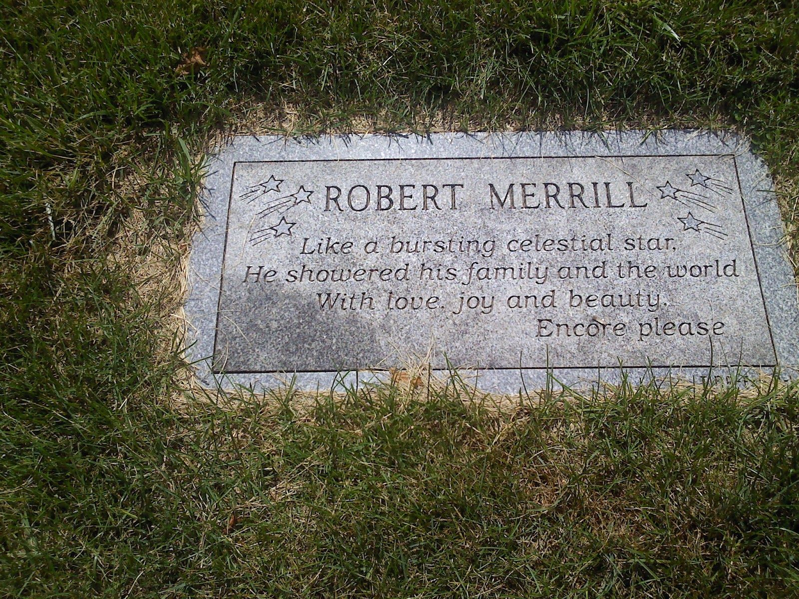 Robert Merrill plaque