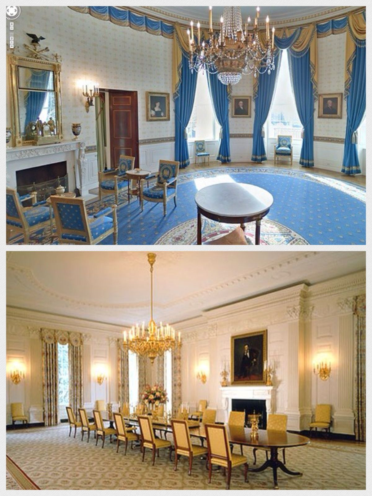 Top the blue room in the white house whitehouse bluewhite top the blue room in the white house the state dining room in the white house which sits as many as 140 guests is used during formal dinners for dzzzfo