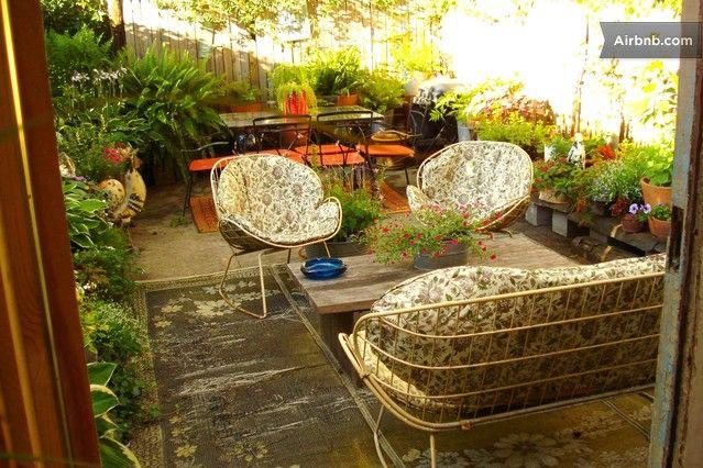 simplemente.... hermoso¡ el patio acogedor...