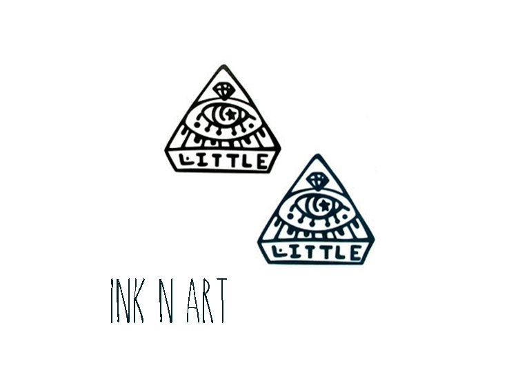 2pcs Little Eye Triangle InknArt Temporary Tattoo by InknArt