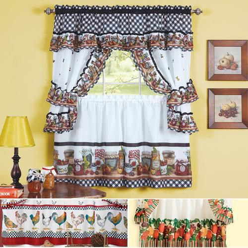 6 Piece Value Curtain Set Taylor Gifts Homedecor